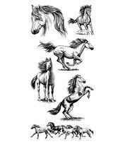 Inkadinkado Clear Stamps-Horses, , hi-res