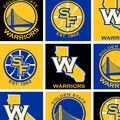 Golden State Warriors Fleece Fabric 58\u0027\u0027-Block