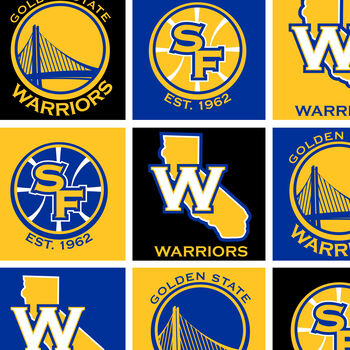 Golden State Warriors Fleece Fabric 58''-Block