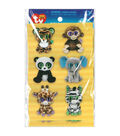Darice Beanie Boo 12pcs Wiggle Eye Stickers-Jungle