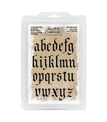 Tim Holtz® Idea-ology® Cling Foam Stamps-Christmas Lowercase Alpha