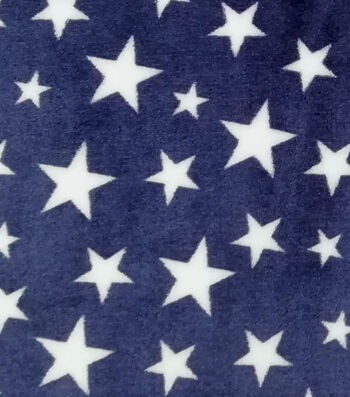 Sew Lush Fabric -Stars on Navy