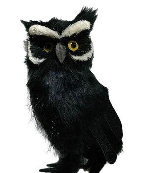 Maker's Halloween Large Owl Critter-Black & White