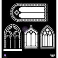 Prima Marketing Finnabair 12\u0027\u0027x12\u0027\u0027 Plastic Elementals Stencil-Windows
