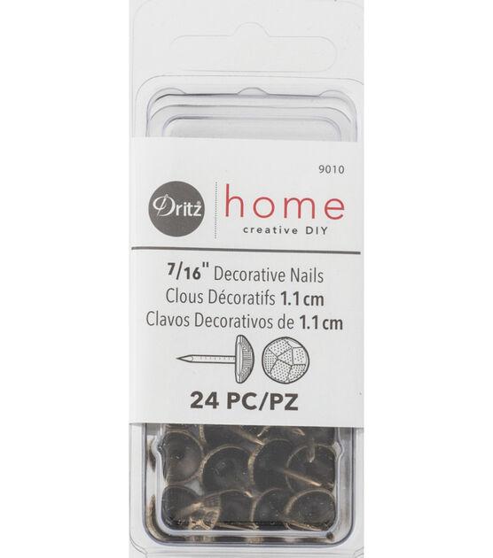 Nickel Dritz Home 9011 Hammered Decorative Nails 7//16-Inch 24-Piece