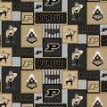 Perdue University Boilermakers Fleece Fabric-College Patch