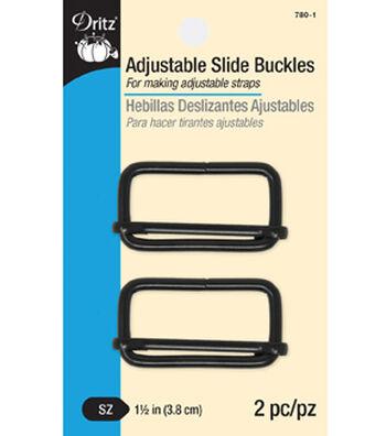 Dritz Adjustable Slide Buckles-Black