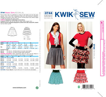 20d8c96abb92f Kwik Sew Misses Skirt-K3744