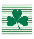 St. Patrick\u0027s Day Decor 20 pk Paper Lunch Napkins-Shamrock on Stripes