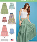 Simplicity Patterns Us1110A-Simplicity Misses\u0027 Tiered Skirt With Length Variations-Xxs-Xs-S-M-L-Xl-Xxl