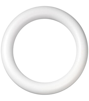 "Extruded Styrofoam Wreath 16"" Bulk-White"