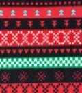 Holiday Inspirations Christmas Fabric Christmas Fair Isle Fleece