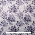 Casa Embellish Ember Satin Fabric-Black Print on White