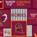 Virginia Tech Hokies Fleece Fabric-College Patch