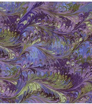 Legacy Studio Batik Fabric -Purple Oil Slick