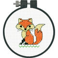 Learn-A-Craft Fox Counted Cross Stitch Kit-3\u0022 Round 11 Count