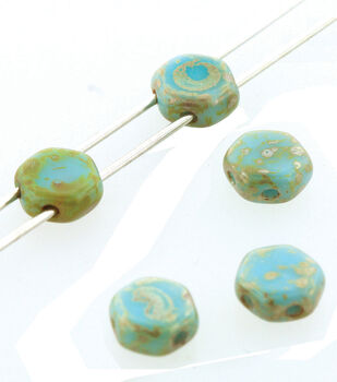 Honeycomb Strung Beads 6mm-Turquoise Picasso