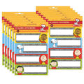 Peanuts Composition Label Stickers 12 Packs