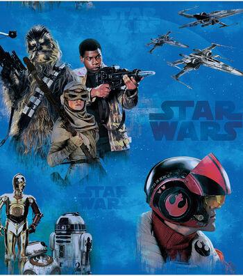 Star Wars: The Force Awakens Fleece Fabric -Heroes