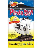 Creativity for Kids Kit-Make Your Own Pirate Ship, , hi-res