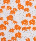 1930\u0027s Cotton Fabric 43\u0022-Dotted Elephants Orange