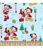 Disney Mickey & Minnie Cotton Fabric-Christmas Love, , hi-res