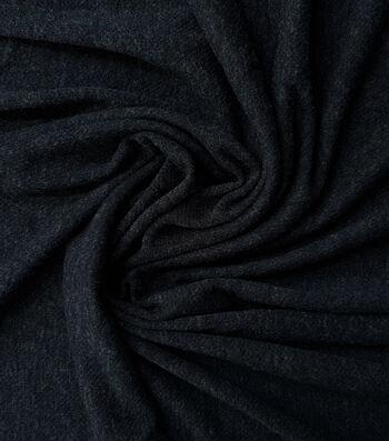 Loungeletics Performance Wool Blend Fabric-Heather Black