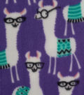 Anti-Pill Fleece Fabric -Library Llamas