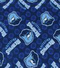 Memphis Grizzlies Fleece Fabric 58\u0022-Logo Toss