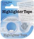Highlighter Tape .5\u0022X393\u0022-Blue