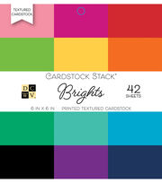 DCWV 42 Pack 6''x6'' Printed Textured Cardstock Stacks-Brights, , hi-res