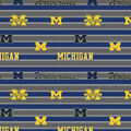 University of Michigan Wolverines Cotton Fabric -Stripe