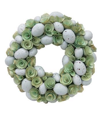 Easter Decor 13'' Egg Wreath