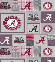"University of Alabama Crimson Tide Fleece Fabric 58""-Gray Block, , hi-res"