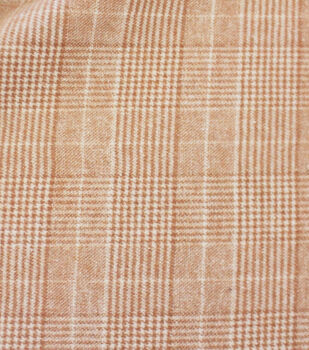 Sportswear FX Shearling Fabric-Camel Ivory Plaid