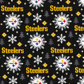 Pittsburgh Steelers Christmas Flannel Fabric-Holiday