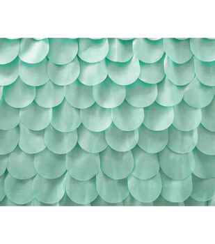 Glitterbug Fabric 31''-Turquoise 3D Scales