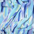Fast Fashion Chiffon Fabric-Blue All Over Ikat