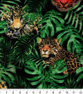 Snuggle Flannel Fabric-Tiger Cheetah Realistic
