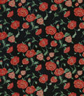 Snuggle Flannel Fabric-Poppies On Black