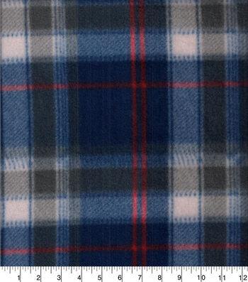 "Blizzard Fleece Fabric 58""-Beau Red & Navy Plaid"