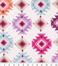 Anti-Pill Plush Fleece Fabric-Boho Aztec
