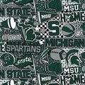 Michigan State University Spartans Cotton Fabric-Pop Art
