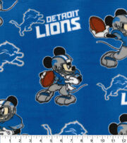 Detroit Lions Fleece Fabric-Mickey, , hi-res