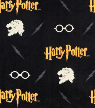 Harry Potter Fleece Fabric-Gryffindor Lion