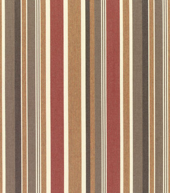 "Sunbrella Outdoor Stripe Fabric 54""-Brannon Redwood"