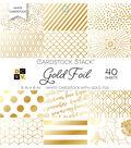 DCWV 40 Pack 6\u0027\u0027x6\u0027\u0027 White Cardstock Stack-Gold Foil