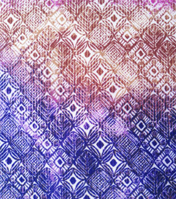 Stretch Chiffon Fabric 57''-Purple Ikat