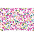 Snuggle Flannel Fabric -Watercolor Butterflies