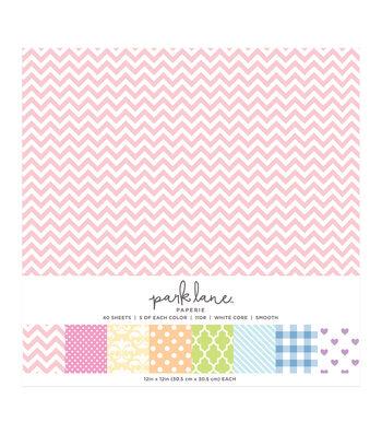 Park Lane 40 pk 12''x12'' Value Papers-Pattern Pastel